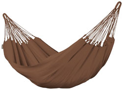 Brown Organic Cotton Single Person Hammock