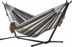 Viviere Cotton Double Hammock with Frame
