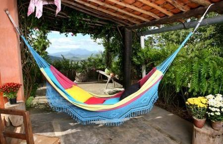 Brazilian Fringe Hammock - See How Fringe Hammock Adds Style To Deck For $75