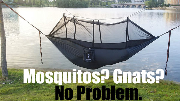 Hammock with Mosquito Net Keeps Bugs and Nets Out