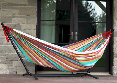 Double Hammock on Patio