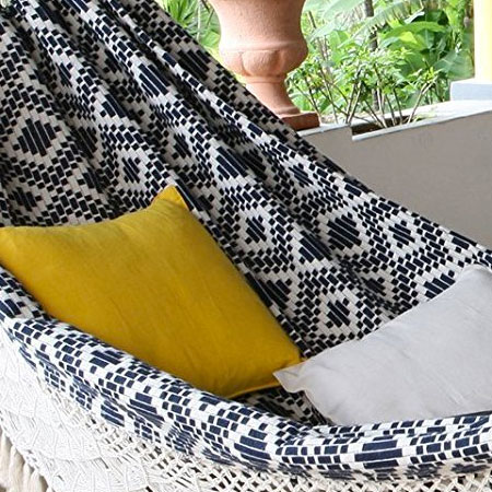 Hand Woven Fabric on Brazilian Style Hammock