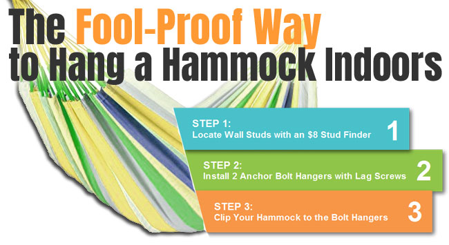 How to hang a hammock indoors how to hang a hammock for How to hang a hammock in a room