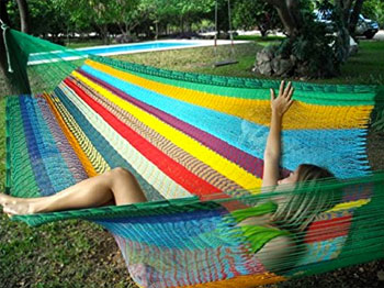 Woman Sleeping in Mayan Hammock