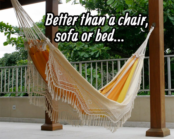 Novica Hammock: Better tha a Chair, Sofa or Bed...