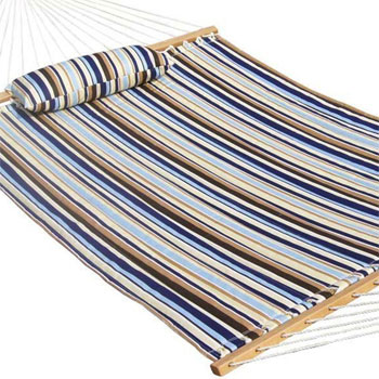 Striped Poolside Hammock with Head Cushion